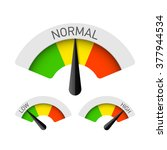 low  normal and high gauges.... | Shutterstock .eps vector #377944534