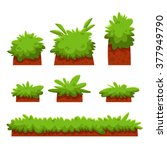 cartoon bushes  hedges and...