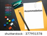 Small photo of Text accommodation on white paper