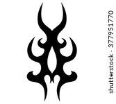 tattoo tribal vector design.... | Shutterstock .eps vector #377951770