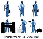 vector illustration of a six... | Shutterstock .eps vector #377952400