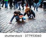 trier  germany  december 8 ... | Shutterstock . vector #377953060