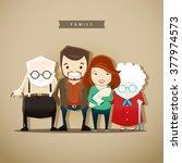 vector illustration of a family ... | Shutterstock .eps vector #377974573