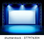 empty show stage. vector...   Shutterstock .eps vector #377976304