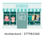 children clothes shop  shops... | Shutterstock .eps vector #377981560