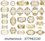 vector white gold framed ... | Shutterstock .eps vector #377982130