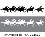 horse racing. jockeys on... | Shutterstock .eps vector #377982610