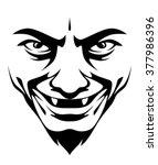 horrible smile | Shutterstock .eps vector #377986396
