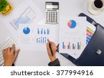 asia business woman analyzing... | Shutterstock . vector #377994916