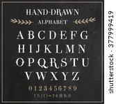 vector alphabet and numbers set.... | Shutterstock .eps vector #377999419