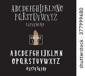 vector alphabet and numbers set.... | Shutterstock .eps vector #377999680