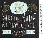 vector alphabet and numbers set.... | Shutterstock .eps vector #377999710