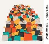 huge pile of shopping bags. eps ... | Shutterstock .eps vector #378001258