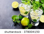 mojito cocktail | Shutterstock . vector #378004150