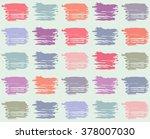 strokes of brush pattern  over... | Shutterstock .eps vector #378007030