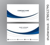business card vector background | Shutterstock .eps vector #378012790