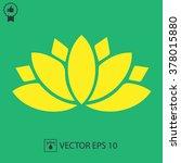 lotus flower vector icon.... | Shutterstock .eps vector #378015880