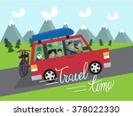 summer vacation travel. time.... | Shutterstock .eps vector #378022330