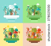 four seasons concept with... | Shutterstock .eps vector #378025030