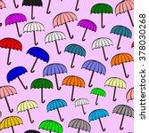 vintage open color umbrella... | Shutterstock .eps vector #378030268