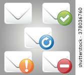 set of colorful e mail icon | Shutterstock .eps vector #378036760