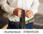 tie hands. tie a tie tie   Shutterstock . vector #378045100