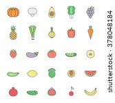 fruit and vegetable... | Shutterstock .eps vector #378048184