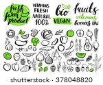 vector handwritten food... | Shutterstock .eps vector #378048820