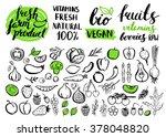 vector handwritten food... | Shutterstock .eps vector #378048820