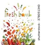 fresh bomd   healthy food... | Shutterstock . vector #378051340