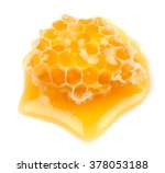 honeycomb close up on a white... | Shutterstock . vector #378053188