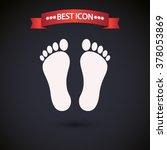 footprint icon vector | Shutterstock .eps vector #378053869