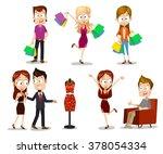 set of vector illustrations of... | Shutterstock .eps vector #378054334