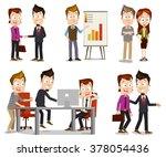 set of business people... | Shutterstock .eps vector #378054436