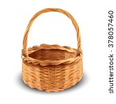 isolated brown basket on white... | Shutterstock .eps vector #378057460
