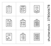 set line icons of checklist... | Shutterstock . vector #378064678