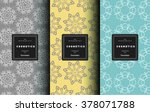 vector cosmetics logo design... | Shutterstock .eps vector #378071788