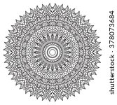 adult coloring page. mandala... | Shutterstock .eps vector #378073684
