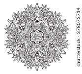 adult coloring page. mandala... | Shutterstock .eps vector #378073714