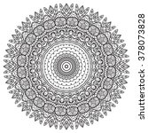 adult coloring page. mandala... | Shutterstock .eps vector #378073828