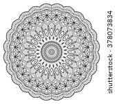 adult coloring page. mandala... | Shutterstock .eps vector #378073834