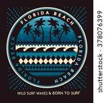 florida beach typography  t... | Shutterstock .eps vector #378076399