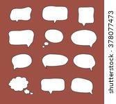 blank empty white speech... | Shutterstock .eps vector #378077473