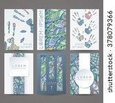 set of vector design templates. ... | Shutterstock .eps vector #378079366