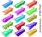 arrow set vector for web design.   Shutterstock .eps vector #37807960