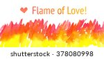 watercolor flame illustration.... | Shutterstock . vector #378080998