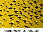 drops of water on yellow ... | Shutterstock . vector #378082330