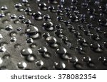 drops of water on a black... | Shutterstock . vector #378082354
