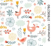 floral seamless pattern with... | Shutterstock .eps vector #378082780