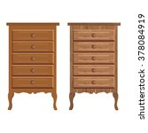 chest of drawers in two textures | Shutterstock .eps vector #378084919